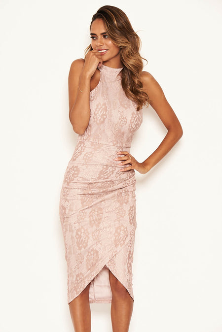 Strappy Lace Skirt Frill Hem Dress