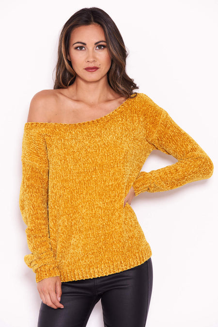 Red Flare Sleeve Knitted Jumper