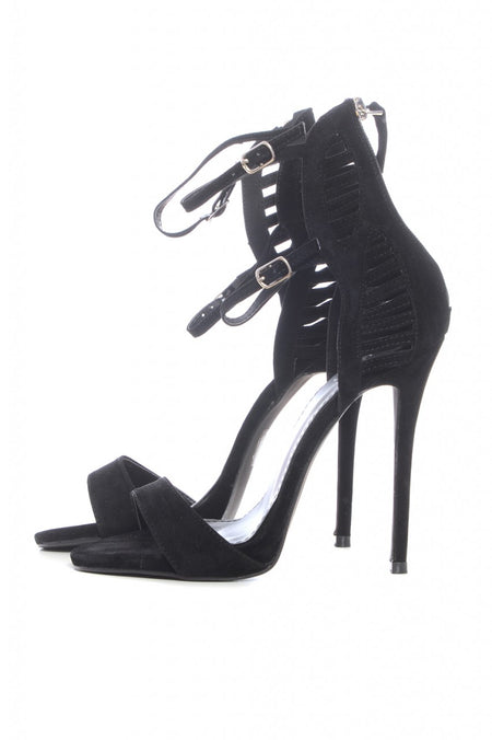 Black Perspex Insert Court Shoes