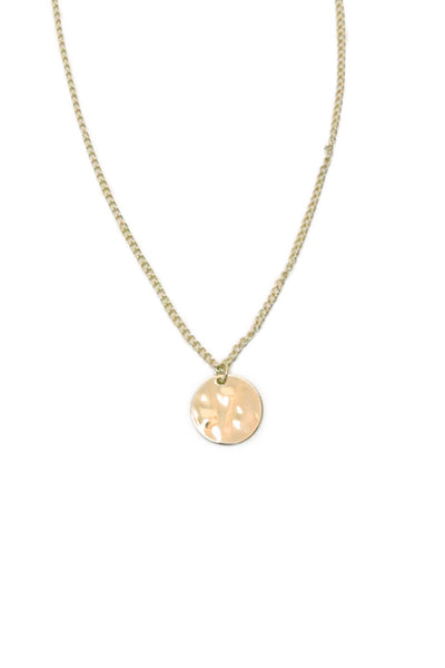 Gold Dainty Circle Necklace
