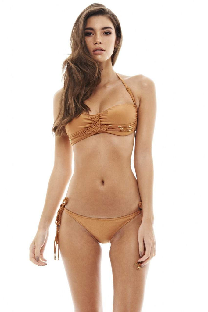 Detailed Bandeau Bikini