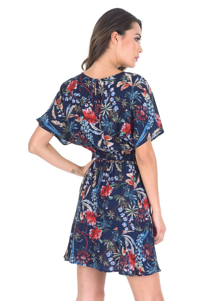 Navy Floral Summer Dress