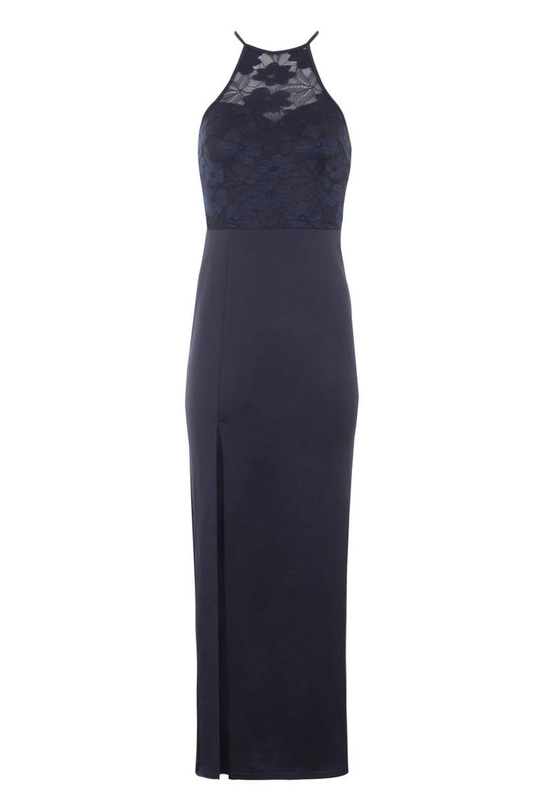 Navy Lace Top Maxi Dress