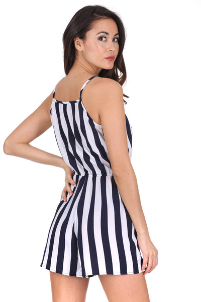 Navy Striped Playsuit