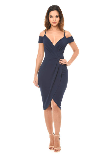 Navy Wrap Around  Dress