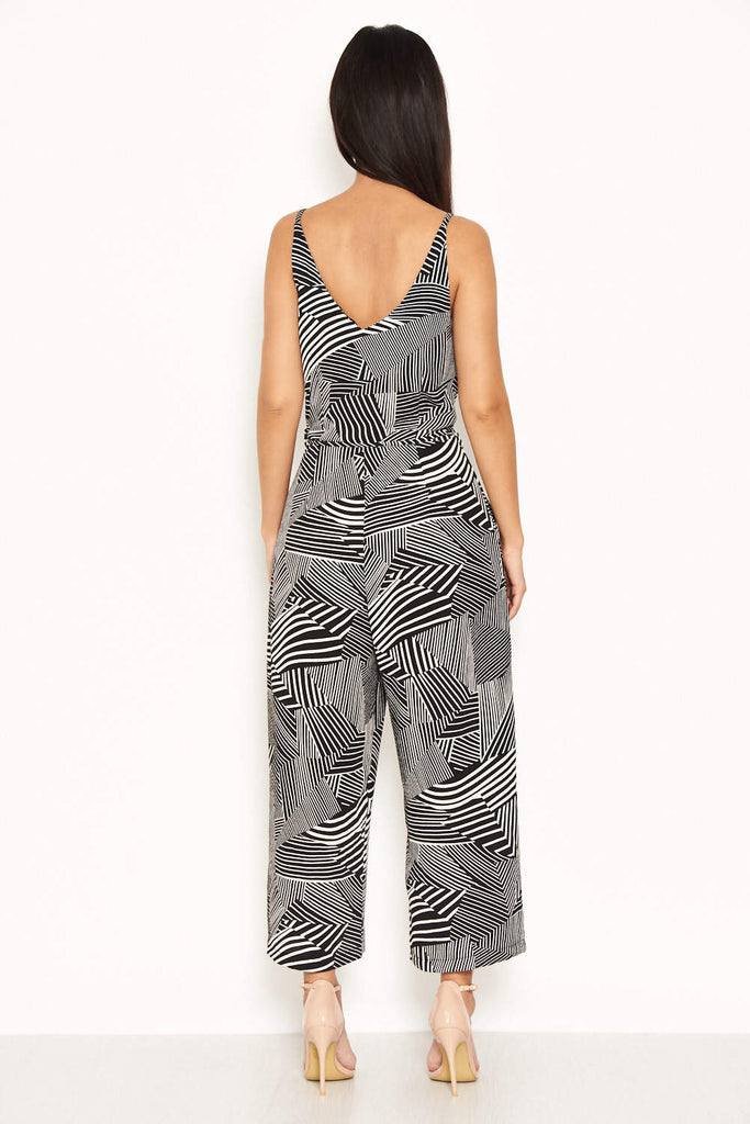 Printed Jumpsuit With Tie Waist