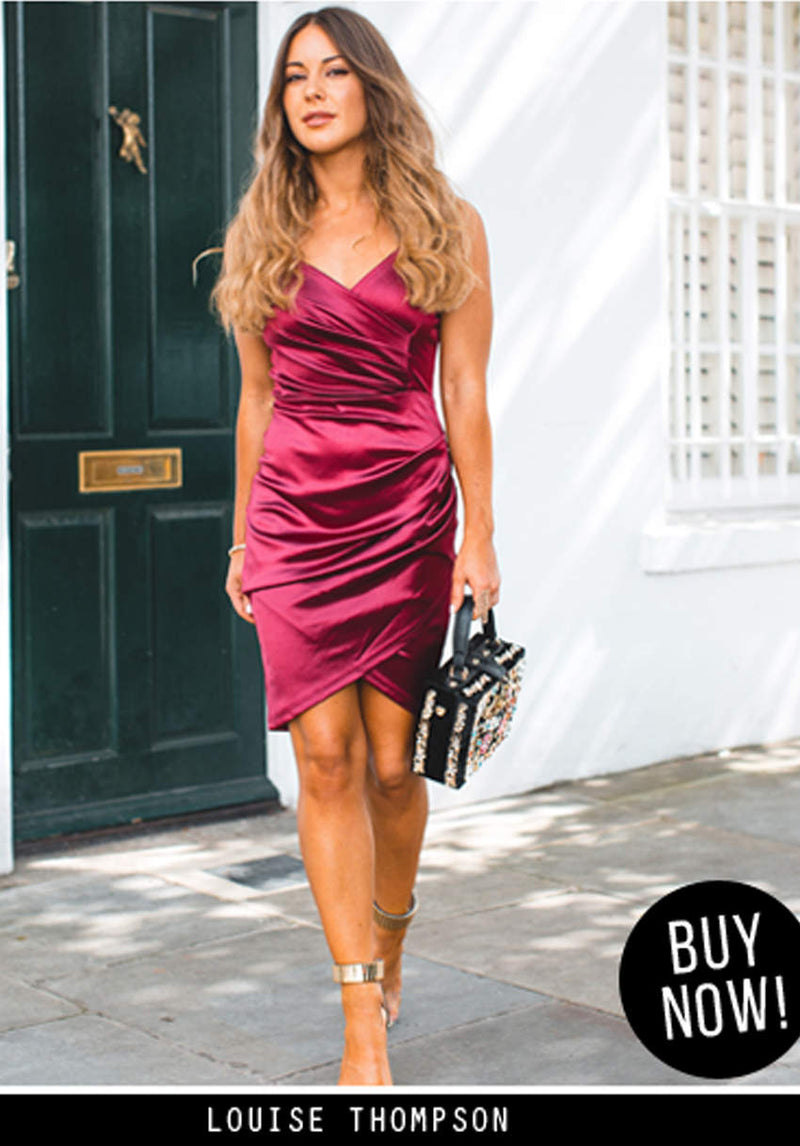 Plum Wrap Front Dress