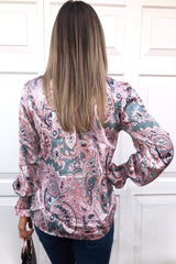 Paisley Printed High Neck Top