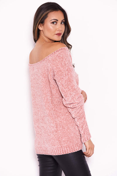 Pink Chenille Jumper
