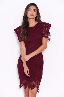 Plum Crochet Midi Dress