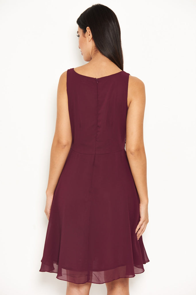 4d4b84e96cd8 Plum Embellished Skater Dress – AX Paris