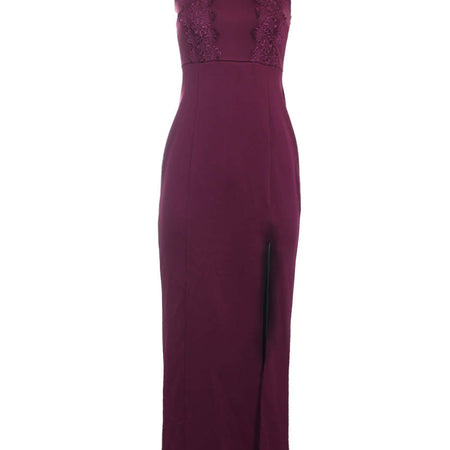 Plum Lace Maxi Dress
