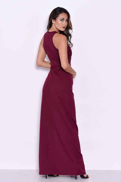 Plum Lace Top Maxi Dress