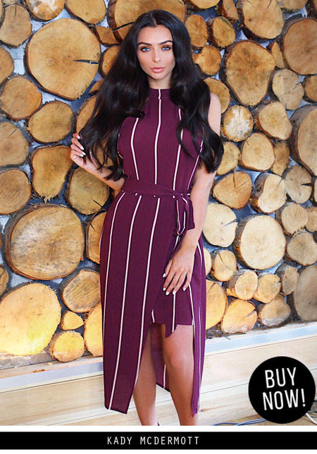 Black One Sleeve Slinky Midi Dress