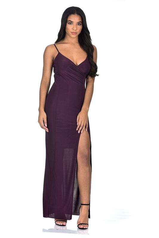 Plum Slinky Maxi Dress