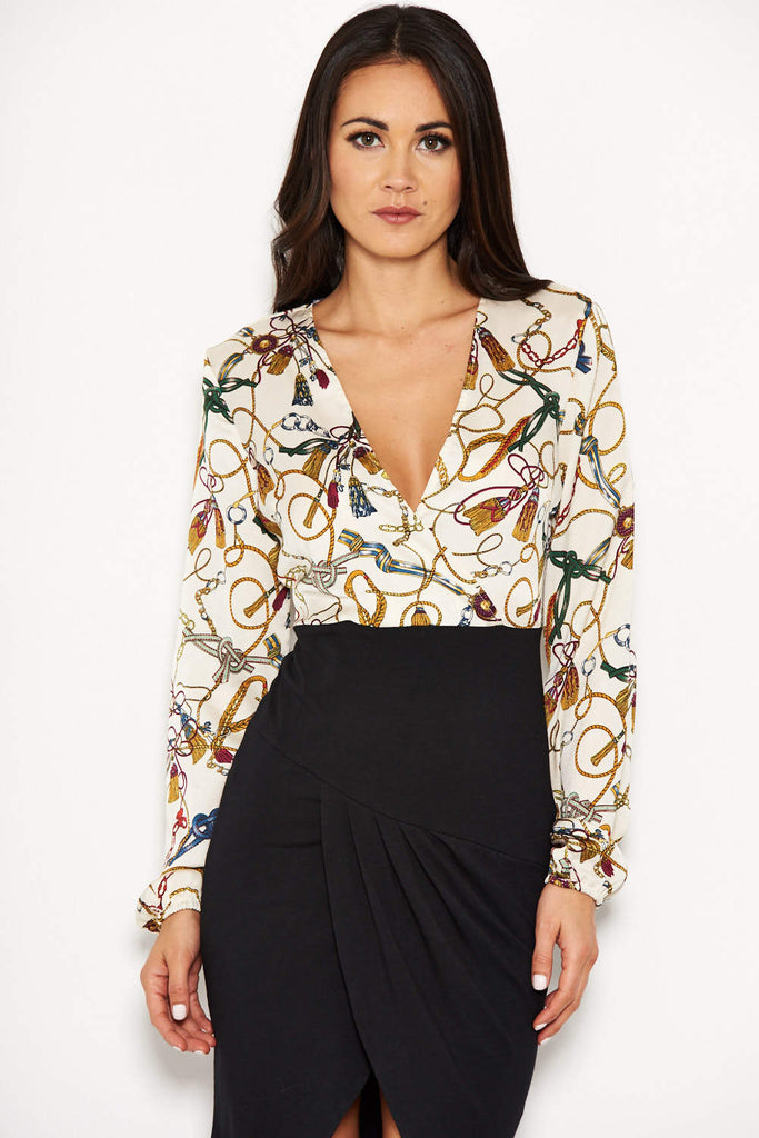 Printed Wrap 2 in 1 Bodycon Dress