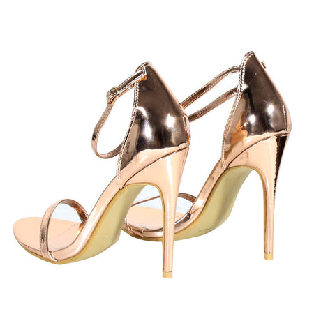Rose Gold Barely There Heels