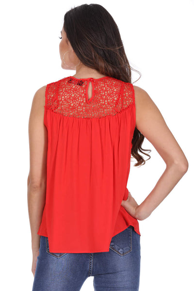Red Crochet Top