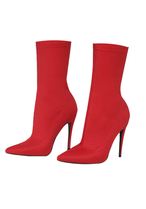 Red Stiletto Heel Boots