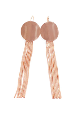 Rose Gold Circle Sleek Earrings