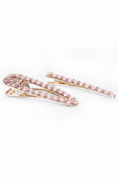 Rose Gold Oversized  2 Piece Hair Clips