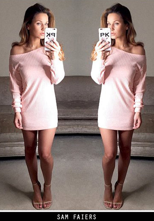 Pink Off Shoulder Knitted Top