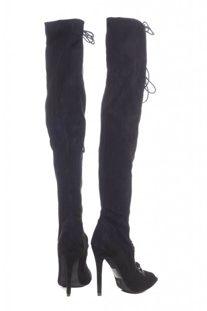 Lace Up Knee High Boots