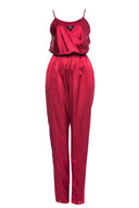Wine Strappy Jumpsuit