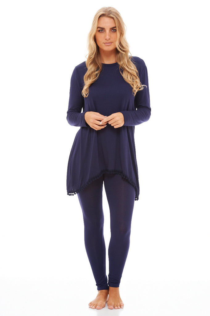 Pom Pom Edged Lounge  Suit