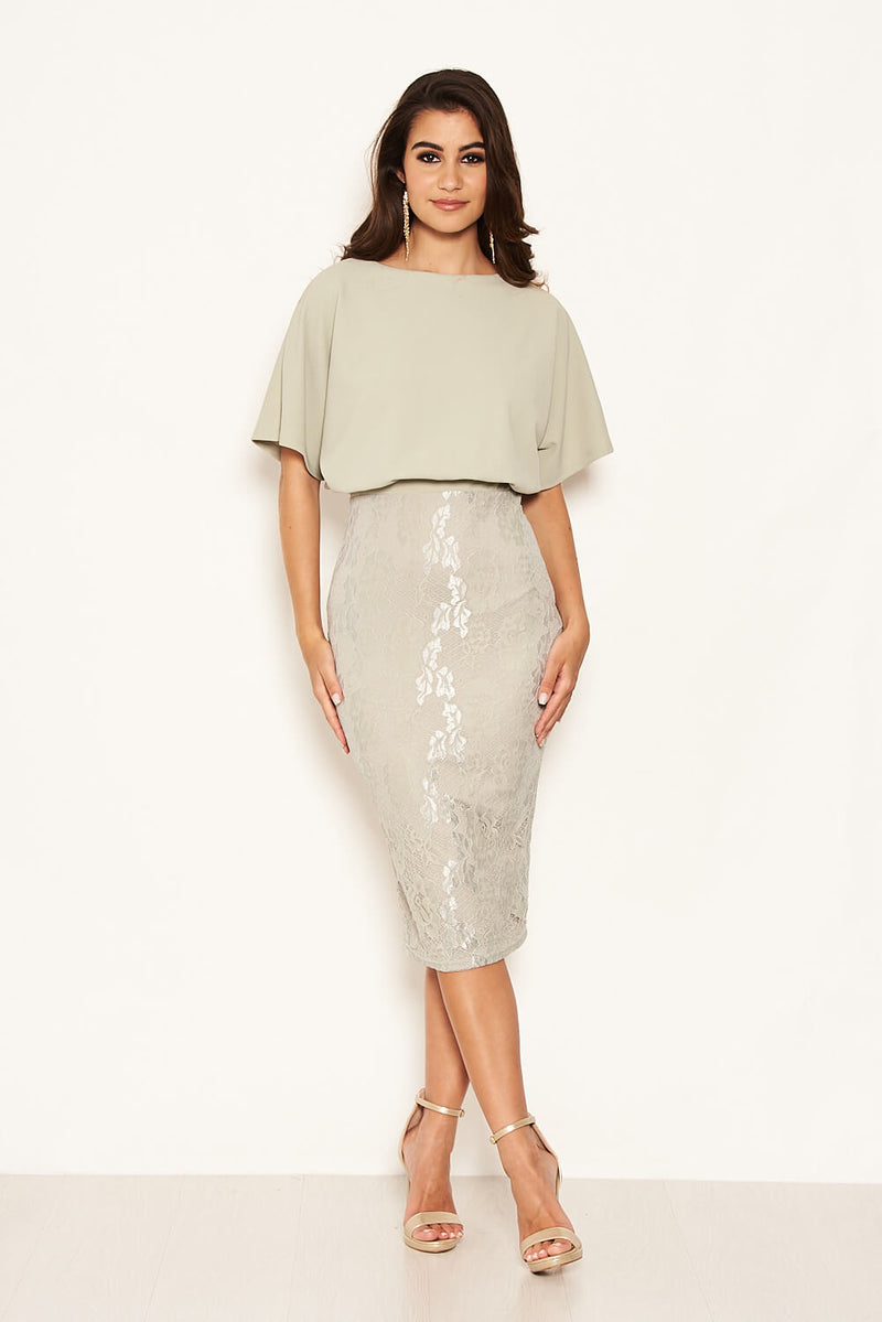 Sage 2 in 1 Lace Skirt Dress