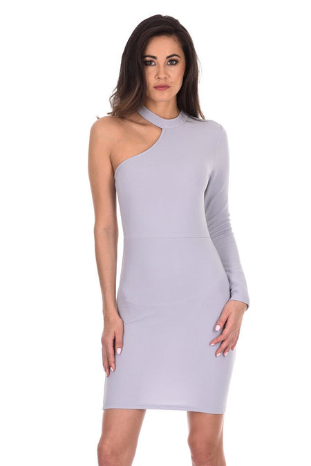 Wine Choker Bodycon Dress