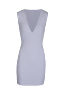 Silver V-Front Bodycon Dress