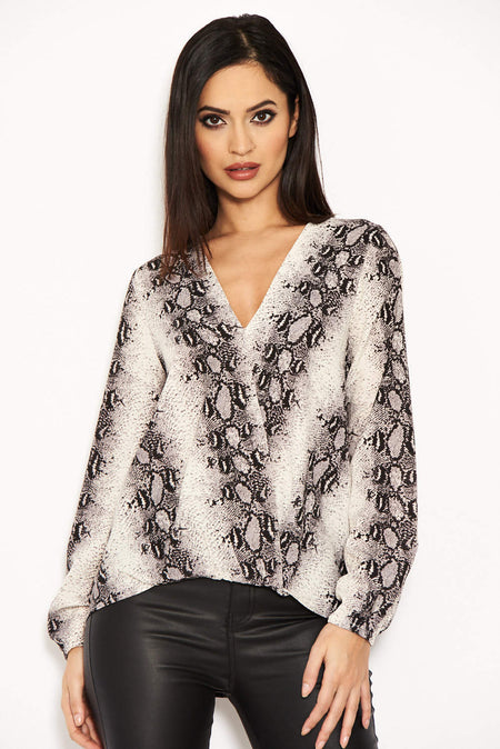 Duck Egg And Cream Knit Off Shoulder Jumper