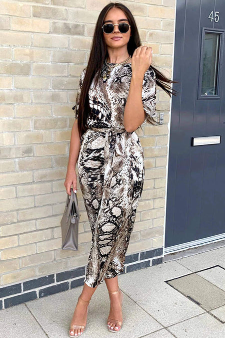 Black Printed Cami V Neck Jumpsuit