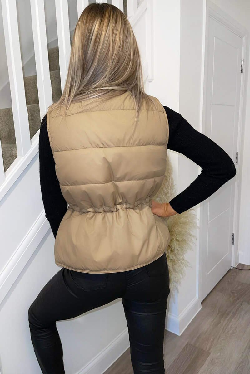 Stone Puffer Double Pocket Gilet