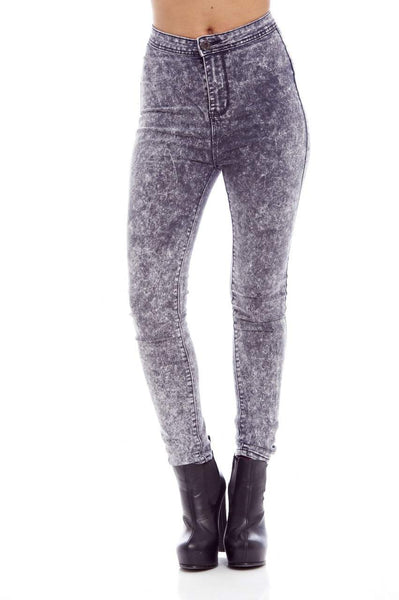 Plain Speckle High Waist Jean