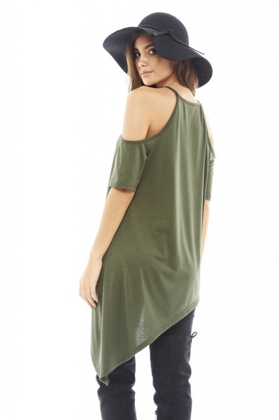Cut Out Shoulder   Asymmetric Top
