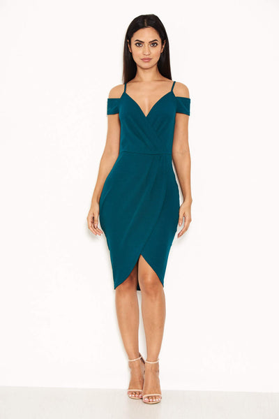 Teal Wrap Around Dress