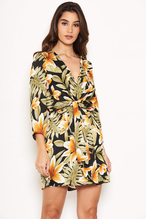 Tropical Knot Front Day Dress 7f3a33928