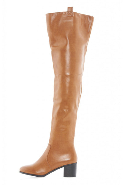Chunky Heeled Over The Knee Boots