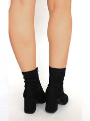 Black Suede Heeled boots