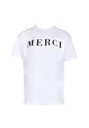 White Merci Slogan T-Shirt