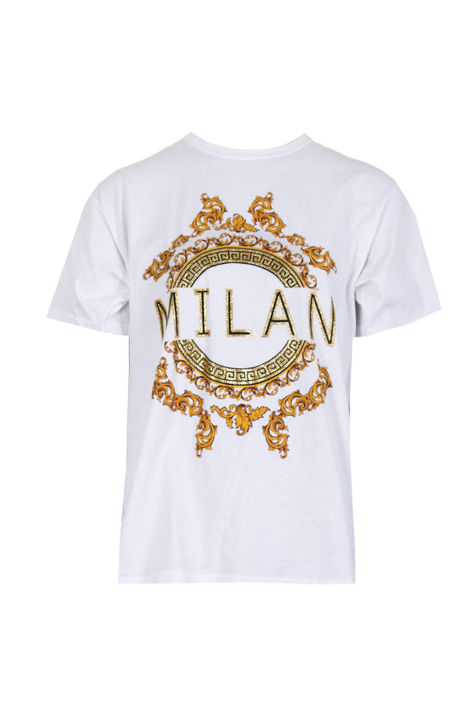 White Milan Slogan T-Shirt
