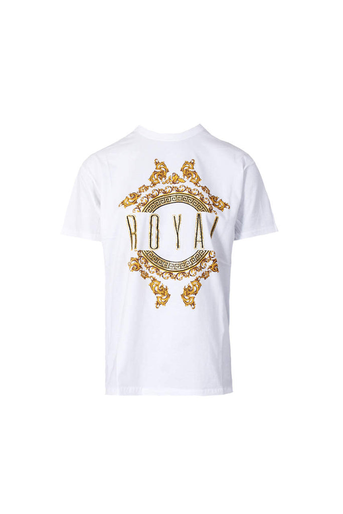 White Royal Slogan T-Shirt