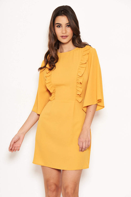 90d27a6f1f6 Yellow Frill Front Dress
