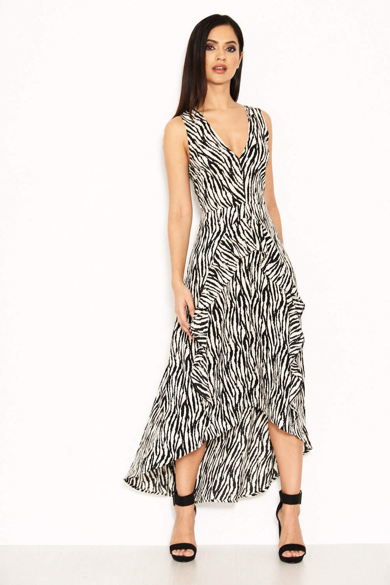 Zebra Animal Print Maxi Dress