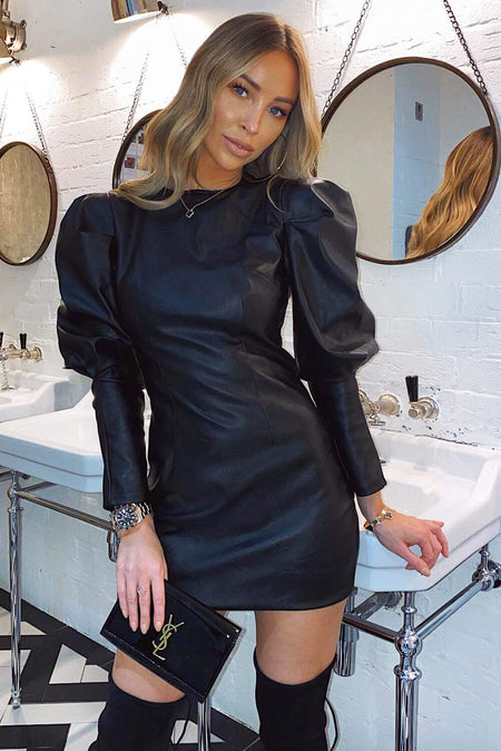 Black Cut Out One Shoulder Dress