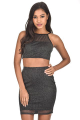 2 in 1 Black Sparkle Co-ord