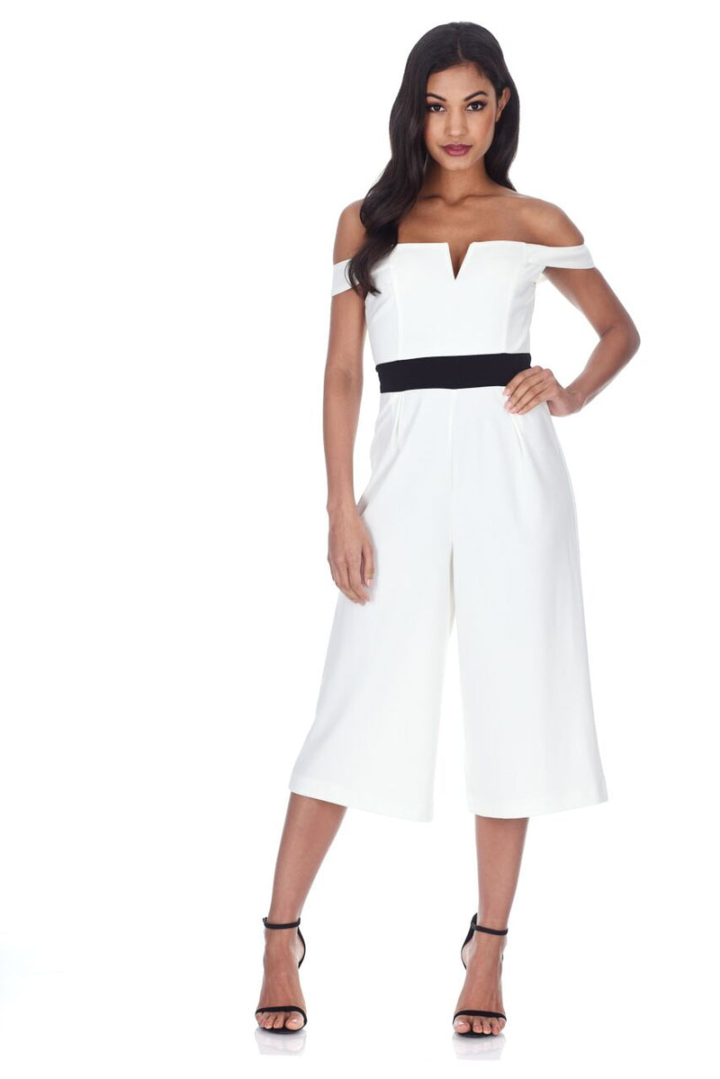 Cream Culotte Jumpsuit