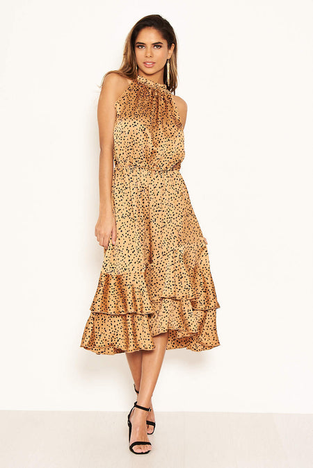 Paisley High Neck Shift Dress